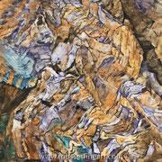 """Indian Creek- oil on canvas - huile sur toile - 100 x 120 cm - (39 x 47"""") - 2018"""