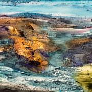 """Ehujarre #2 - oil on canvas - huile sur toile 50 x 70 cm (20 x 28"""") - 2018"""