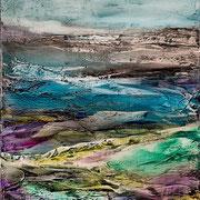 Etude #12 - oil on canvas - huile sur toile 50 x 40 cm - 2016 - Improvisation