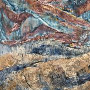 """Trajectoires - oil on canvas - huile sur toile - 150 x 120 cm (59 x 47"""") - 2018"""