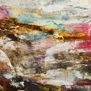 Spirit Road (Etude #6) - acrylic inks on wood panel - encres acryliques sur bois 61 x 51 cm - 2015 - Improvisation