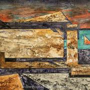 """Ordesa #1 - oil on canvas - huile sur toile 100 x 120 cm (39 x 47"""") - 2017 - Composition"""