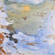 Presence (Etude #2) - acrylic inks on canvas - encres acryliques sur toile  60 x 60 cm - 2010 - Impression
