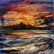 """Five Elements (draft) - oil on canvas - huile sur toile 40 x 40 cm (16 x 16"""" ) - 2016 - impression"""