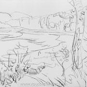 Acadia #3 - drawing 49 x 65 cm - 2005