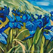 """Iris - acrylic on canvas - acrylique sur toile 50 x 60 cm (20 x 24"""") - 2016 - impression"""