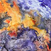 Matter #6 - acrylic inks on canvas - encres acryliques sur toile 30 x 30 cm - 2010 - Impression