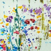 "Valentine (draft) - oil on canvas - huile sur toile 50 x 50 cm (20 x 20"") - 2017 - impression"