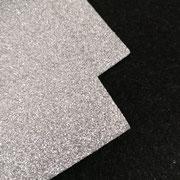 Gomma glitterata Argento