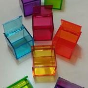 Box plexi colorato