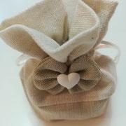 Sacchettino cotone/lino con fondo