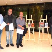 De gauche à droite Dominique Lanzalavi, Jean-Yves Acquaviva, Paulu Desanti et Alanu Di Meglio
