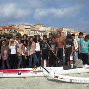 La photo de famille avec Denis Cardonne avant le départ pour Argelès-sur-Mer