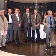 François Orlandi et les membres du jury du prix Don-Joseph Morellini