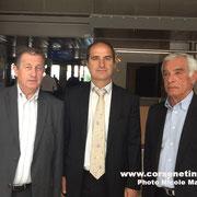 Paul Trojani, Pierre Bogdanovic et Pierre Vincentelli, directeur  des concessions aéroportuiares de la CCI de Bastia et de la Haute Corse