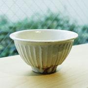 信楽焼 鉄散線彫 めし碗 小