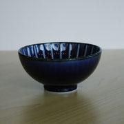 量るカロリー茶碗 茄子紺ブルー 200kcal