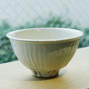 信楽焼 鉄散線彫 めし碗 大