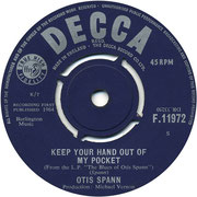 'Stirs Me Up'/'Keep Your Hand Out of My Pocket' Decca F 11972 1964