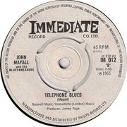 I'm Your Witchdoctor/Telephone Blues Immediate IM 012 1965 side B