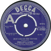 Just Like in the Movies/Get Along Without You Decca F 12152 1965 side A