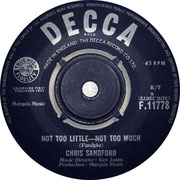 'Not Too Little - Not Too Much'/'I'm Lookin Decca F 11778 1963 Side A