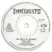 The Bells of Rhymney/Just Like Anyone Would Do Immediate IM 002 1965