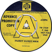Hurdy Gurdy Man/Teen Angel Pye 7N 17537 1968