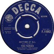 Don't Think Twice, It's Alright/Anytime at All Decca F 11943 1964