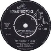 Get Yourself Home/I'll Dance HMV POP 1404 1965
