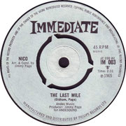 The Last Mile/I'm Not Sayin Immediate IM 003 1965 side B