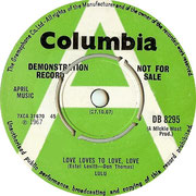 'Love Loves to Love Love'/'You and I' Columbia DB 8295 1967