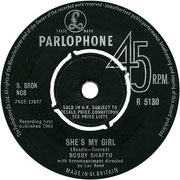 'She's My Girl'/'Wonderful You' Parlophone R 5130 1964 side A