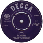 'I've Got That Feeling'/'Larry' Decca F 11861 1964 side B
