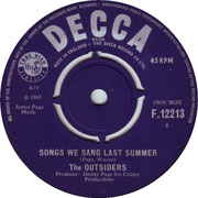 'Keep on Doing It'/'Song We Sang Last Summer' Decca F 12213 side B 1965