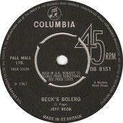 Hi Ho Silver Lining/Beck's Bolero Columbia DB 8151 1967