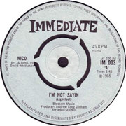 The Last Mile/I'm Not Sayin Immediate IM 003 1965 side A