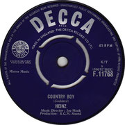 Country Boy/Long Tall Jack Decca F 11768 1963 A side