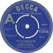 Try to Forget Me/Little Surfer Girl Decca F 12139 1965 side A