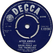 'After a While'/'You Know' Brian Poole and the Tremeloes Decca F 12124 1965