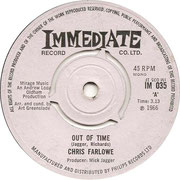 Out of Time/Baby Make It Soon Immediate IM 035 1966
