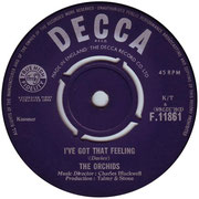 'I've Got That Feeling'/'Larry' Decca F 11861 1964 side A