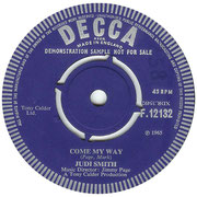 'Leaves Come Tumbling Down'/'Come My Way' Decca F 12132 1965 side B