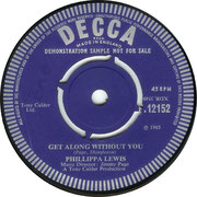 Just Like in the Movies/Get Along Without You Decca F 12152 1965 side B