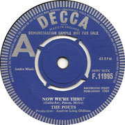 Now We're Thru' / There Are Some - Decca - UK - F 11995 side A