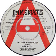 I'm Your Witchdoctor/Telephone Blues Immediate IM 051 (diff. Credits) 1967 side A