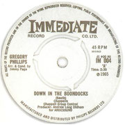 Down in the Boondocks/That's the One  Immediate IM 004 1965