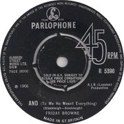 Getting Nowhere/And (To Me He Meant Everything) Parlophone R 5396 1966 side B