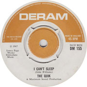 the-quik-i-cant-sleep-deram DM 155 1967 (specul.)