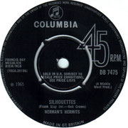Silhouettes/Can't You Hear My Heartbeat Columbia DB 7475 1965